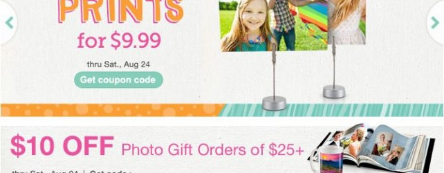 Walgreens Photo Deals + Coupon Codes thru 8-24-2013