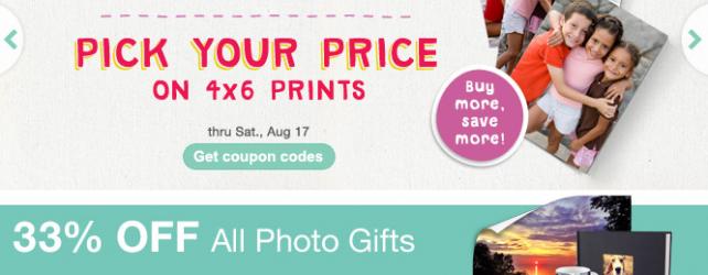 Walgreens Photo Deals + Coupon Codes thru 8-17-2013