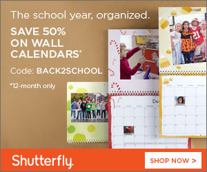Shutterfly: 12-Month Wall Calendars 50% Off thru 9-4-2013 + 101 Free Prints !