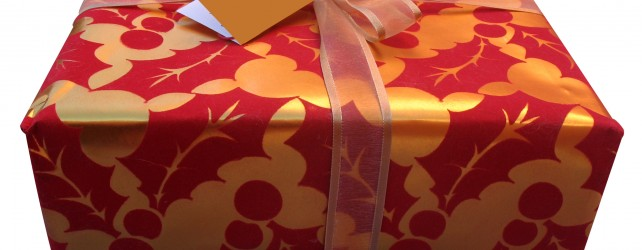 Save your wrapping paper and gift bags