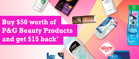 Get $15 back on beauty products this spring with P&G everyday