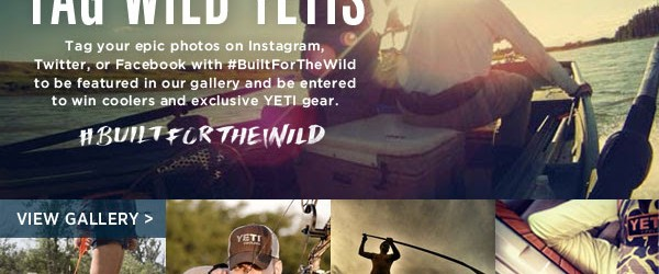 WIN A FREE YETI COOLER FROM THE YETI COMPANY