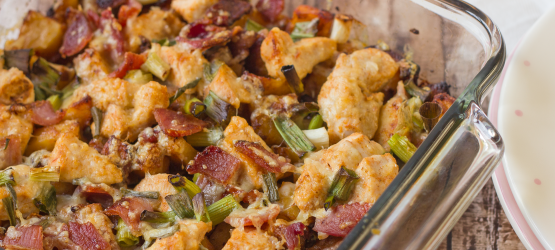 Cooking on a Budget: Loaded Baked Potato Chicken Casserole