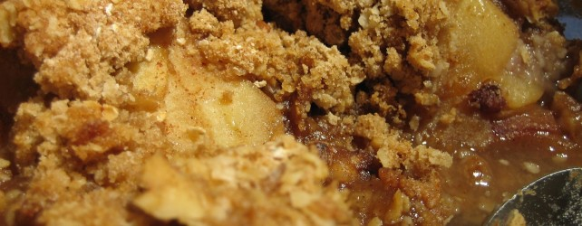 Cooking On A Budget: Walnut Maple Apple Crisp