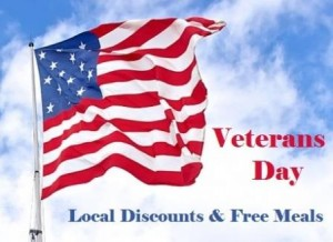 Veterans Day Discounts 2015
