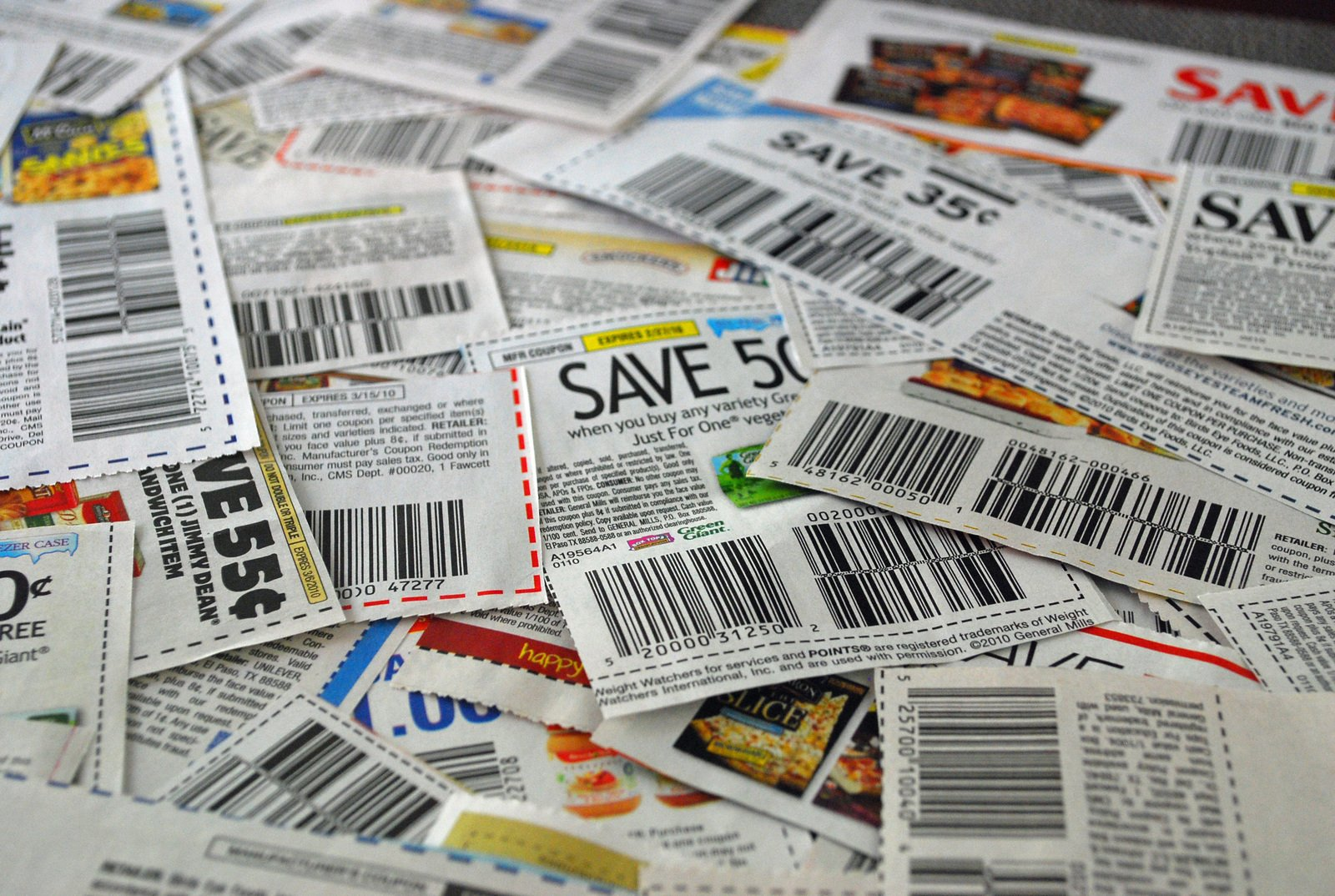 coupons- save on food
