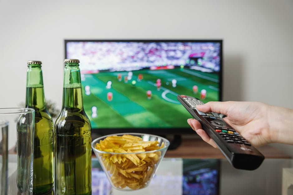 tv and bottle of beers